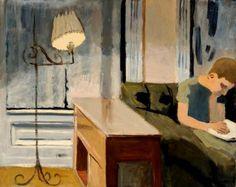 Boy Reading - Fairfield Porter, c. 1954. - American, 1907-1975