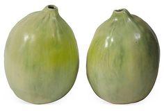Handmade Clay Gourds, Pair  on OneKingsLane.com