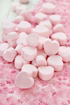 <3.Pink marshmallow hearts.<3
