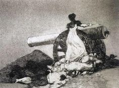 Goya y Lucientes, Francisco de (b,1746)- Woman at Cannon