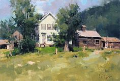 mark boedges paintings | up on the hill available mark boedges fine art gallery 12 x 18 inches ...
