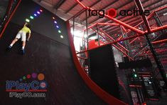 iPlayCO is proud to introduce TAG Active as the newest products in our Adrenaline Park Equipment line.  TAG Active promotes fitness, fun, and competition. TAG is a new concept in social active leisure through the technological gamification of physical events. A creative blend of physical obstacles and challenging events with immersive activities that make up the multilevel, multi-zoned TAG Arenas. Player worn electronic bands provide gamification and competitive metrics. #TAGactive #iPlayCO Playground Design, Indoor Playground, Park Equipment, Game Data, Modular Walls, Entertainment Centers, Fitness Fun, Competition, Activities