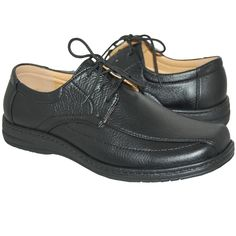 creative designed leather lined lace up men's shoe