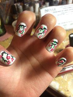 Japanese Cherry Blossom Nails