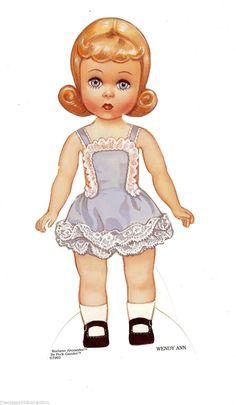 Madame Alexander Wendy Ann Paper Dolls with 10 Fashions Accessories | eBay
