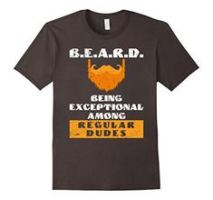 Beard Shirts for Men Men's Beard Definition T-Shirt with Funny Beard Quote Shirt Men's Facial Hair Humor Tee Shirt Beard Being Exceptional Among Regular Dudes T-Shirt quote about bearded men - super funny gift for a man with beard on a Father's Day or as a Birthday Present. Ginger color of the beard on the shirt. Beard shirts for Men are different and the one you just found is a Must Have t shirt for who already has beard kit such as trimmer, oil , brush, comb. Runs small so size up…