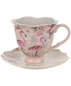 Aviary Flamingo tea cup