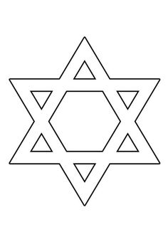Free printable star of david pattern. Cut out the shape and use it for coloring, crafts, stencils, and more. Hanukkah Crafts, Jewish Crafts, Hannukah, Peyote Patterns, Craft Patterns, Quilt Patterns, Printable Star, Templates Printable Free, Stars