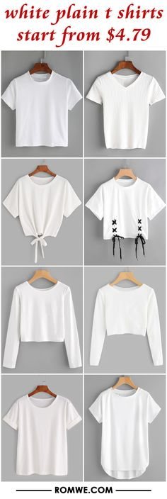 white plain t shirts from $4.79