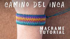 pulseras de hilo ancha | camino del inca | tutorial macrame BY ARTEMANUAL