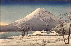 1929-32 - Shôtei,Takahashi - Fuji from Lake Yamanaka