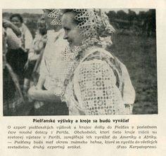 Dievčatá v krojoch. O naše kroje a výšivky prejavili záujem vo Francúzsku, Amerike a Afrike - (Nový svet, 1938)