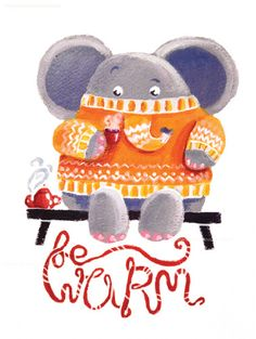 Be Warm! - Rondy the Elephant in his favorite sweater by Oksancia, via Flickr