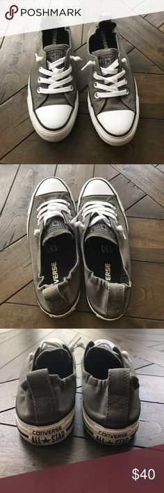 Converse Slip-on Sneakers (6.5) Dark grey converse all star sneaker slip ons!! Women's size 6.5. Very lightly used (worn less than 5x). Offers welcome🤗 Converse Shoes
