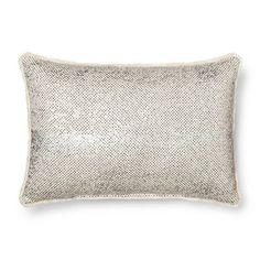 Throw Pillow Metallic Mini Fringe Oblong - Threshold™