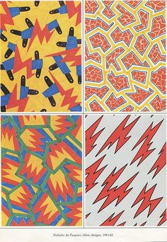 Nathalie du pasquier, patterns for Memphis