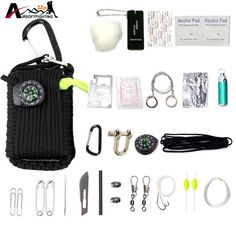 29 in 1 Emergency Survival Kit - Paracord Keychain