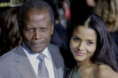 Sidney Poitier with his daughter, Sydney Tamiia Poitier.