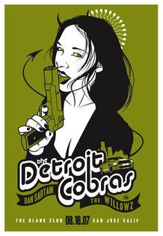 Scrojo, The Detroit Cobras Poster, 2007