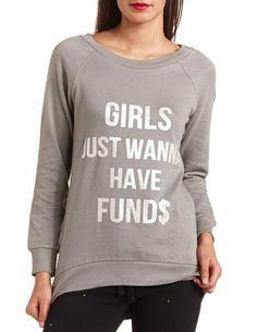 Graphic Tunic Sweatshirt: Charlotte Russe