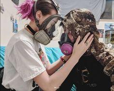 Gas Mask Girl, Oxygen Mask, Respirator Mask, Full Face Mask, Jennifer Aniston, Character Design, Female, Random, Girls