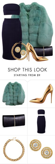 """""""Untitled #81"""" by chassi ❤ liked on Polyvore featuring Gucci, Christian Louboutin, Nina Ricci, Beckley by Melissa, H&M and Roberto Coin"""