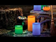 PartyLite Light Illusions LED Pillar.  So so cool!!  Loving them!    www.partylite.biz/shellecover