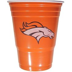 Denver Broncos Plastic Game Day Cups