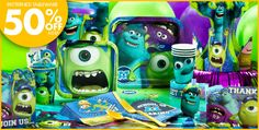 Monsters University Party Supplies - Monsters University Birthday - Party City