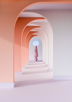[TDIC NEWS] Architectural Spaces by Digital Artist Alexis Christodoulou : 네. - Architecture Designs - [TDIC NEWS] Architectural Spaces by Digital Artist Alexis Christodoulou : 네… architecture-de - Design Studio, Deco Design, House Design, Design Art, Pink Design, Nude Colors, Bold Colors, Peach Colors, Hair Colors