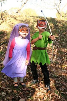 Robin Hood and Maid Marian costumes for E & M