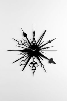 'millelancette wall clock' (meaning thousand clock hands) designed by fabrica design team for diamantini & domeniconi