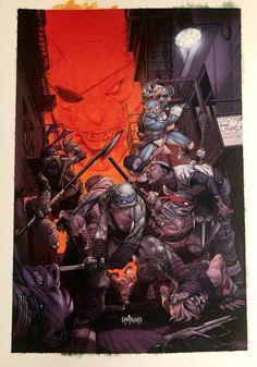 Teenage Mutant Ninjas by Mateus Santolouco Ninja Art, Ninja Turtles Art, Teenage Mutant Ninja Turtles, Tmnt Comics, Comic Books Art, Comic Art, Ninja Kunst, Star Trek, Tmnt 2012