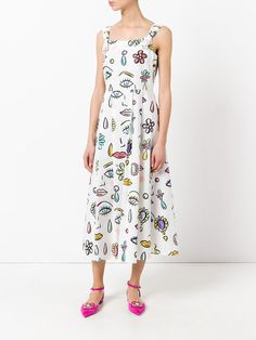 Boutique Moschino multi-print flared dress