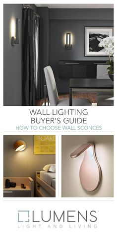 Wall Lighting Buyer's Guide Modern Wall Lights, Wall Sconces, The Help, Layers, Wall Decor, Advice, Trends, Interior Design, Lighting