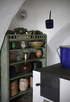 Szentendre - skanzen - House from Tallya Kitchen Cart, Kitchen Dining, Retro Vintage, Retro 2, Tidy Up, Scandinavian Home, Dining Area, New Homes, Rustic