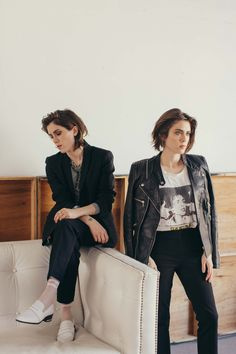 Tegan and Sara. Music. Fashion. Clothes. Makeup. Sisters. Love You to Death.