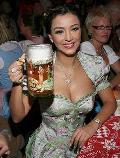 Verona in a 2 piece dirndl outfit - Deutsch Kleidung - Oktoberfest