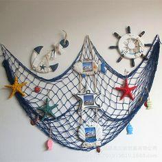 Mediterranean Style Nautical Fishing Net Beach Scene Netting Party Home Decor  #fashion #home #garden #homedcor #otherhomedcor (ebay link)