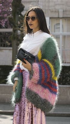 that knitted cardigan is everything, striped chunky knit cardigan sweater in gre. that knitted cardigan is everything, striped chunky knit cardigan sweater in green pink purple and yellow stripes, long . Cardigan En Maille, Chunky Knit Cardigan, Long Cardigan, Oversized Cardigan, Chunky Knits, Oversized Sweaters, Mohair Sweater, Sweater Coats, Knitwear Fashion
