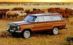 Jeep Grand Wagoneer-- Thanks to Pacey on Dawson's Creek, I always wanted one of these lol