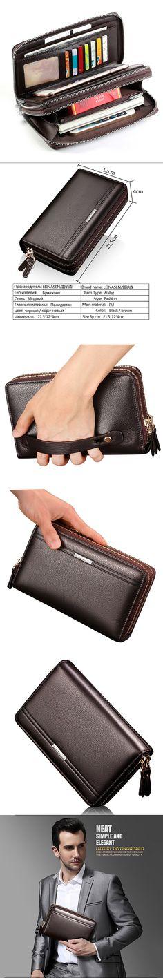 New Brand Business wallet men's pocket coin men purse Large capacity multi-card bit Casual Clutch portfolio Fashion wallet 2018