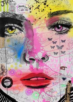 "Saatchi Art Artist: Loui Jover; Ink 2013 Drawing ""candy punk"""