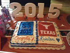 High school graduation to college cake!