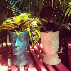 Ceramic Head Planter | The Banyan Tree Garden & Boutique- Islamorada, Florida Keys