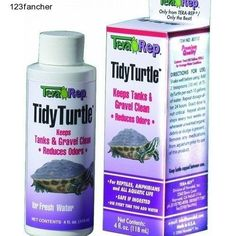 Tidy turtle keeps turtle bowls, tanks and aquariums clean by using naturally occurring beneficial bacteria to remove sludge from the gravel substrate. Odors caused by foul water are greatly reduced. This formula contains specifically developed sludge removing bacteria, used to remove organic debris from aquarium gravel, filters, tubing, etc.