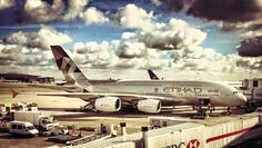 Thank you Seth Rogoff for this great photo of our A380!  Can you guess which airport it was taken at?