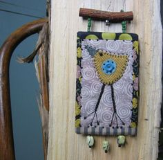 funky bird quilt art wall hanging by gonetoseed on Etsy, $30.00