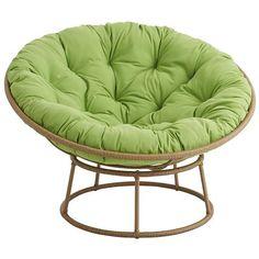 Papasan Outdoor Double Chair Frame Mocha Reading Chair