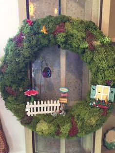 Fairy Garden Moss Wreath